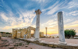 Ruins of the ancient city of Hersonissos Royalty Free Stock Photography