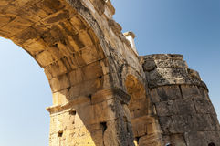 The ruins of the ancient city of Hierapolis, Detail, Turkey Stock Photography