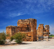 Ruins of an ancient city Hierapolis Stock Photo