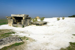 Ruins of the ancient city of Hierapolis stock images