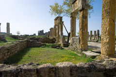 Ruins of the ancient city of Hierapolis Royalty Free Stock Photos