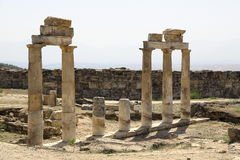 The ruins of the ancient city of Hierapolis in Turkey Stock Photography
