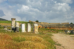 Ruins of the ancient city of Hierapolis, Turkey Stock Photography