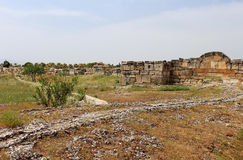 Ruins of the ancient city of Hierapolis, Turkey Royalty Free Stock Images