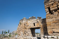 The ruins of the ancient city of Hierapolis, Turkey Stock Photography