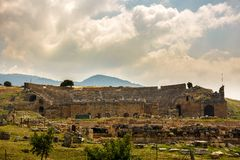 Ruins of the ancient city Hieropolis Royalty Free Stock Image