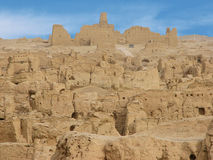 Ruins ancient city of Jiaohe in China Royalty Free Stock Photography