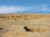 Ruins ancient city of Jiaohe in China Royalty Free Stock Photo