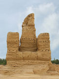 Ruins ancient city of Jiaohe in China stock photos