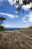 The ruins of the ancient city Kameiros (Kamiros). Rhodes island, Greece. Stock Images