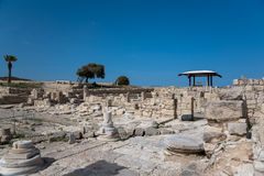 Ruins of ancient city, Kourion, Cyprus Stock Photo