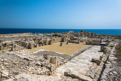 Ruins of ancient city, Kourion, Cyprus. Ruins of ancient Greek city, Kourion, Cyprus Royalty Free Stock Images