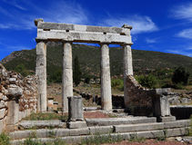 Ruins in Ancient city of Messina. Messinia, Peloponnes, Greece stock photography