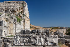 Ruins of the ancient city of Miletus Stock Photography