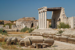 Ruins of the ancient city of Miletus Royalty Free Stock Photography