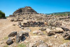 Ruins of ancient city. Nuraghe culture, Sardinia, Italy Stock Images