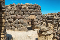 Ruins of ancient city. Nuraghe culture, Sardinia, Italy Royalty Free Stock Photos