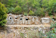Ruins of ancient city Olympos in Lycia. Turkey Stock Photography