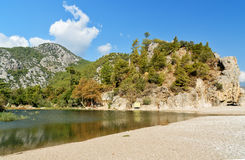 Ruins of ancient city Olympos in Lycia. Turkey Stock Images