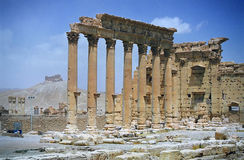 Ruins of ancient city Palmyra Royalty Free Stock Image