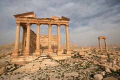 Ruins of ancient city of Palmyra - Syria Stock Photos