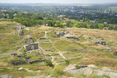 The ruins of the ancient city of Panticapaeum on mount Mithridat. Crimea Stock Photography