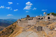 Ruins in ancient city of Pergamon Turkey Stock Images