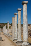 Ruins of the ancient city of Perge Stock Photo