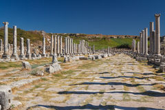Ruins of the ancient city of Perge Royalty Free Stock Photos