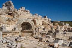 Ruins of the ancient city of Perge Stock Photography