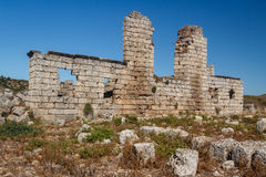 Ruins of the ancient city of Perge Royalty Free Stock Photo