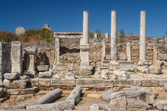 Ruins of the ancient city of Perge Stock Photos
