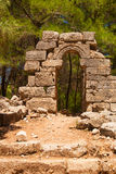 The ruins of the ancient city of Phaselis Royalty Free Stock Photography