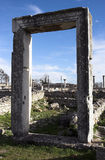Ruins of the ancient city Philippi stock photos