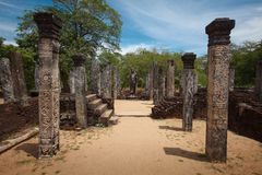 Ruins. Ancient city of Polonnaruwa. Sri Lanka Royalty Free Stock Photos