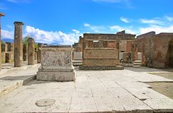 Ruins of ancient city Pompeii Royalty Free Stock Images