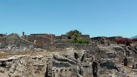 Ruins of ancient city Pompeii stock video footage