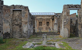 The ruins of the ancient city of Pompeii, Italy. The ruins of the ancient city of Pompeii, which was destroyed during the eruption of Mount Vesuvius in 79 AD Stock Images