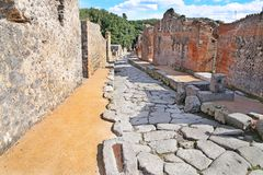 Ruins of ancient city Pompeii Royalty Free Stock Image
