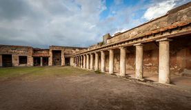 Ruins of ancient city Pompeii Stock Photography