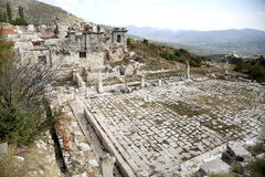 Ruins of ancient city. The ancient city of Sagalassos in Turkey Royalty Free Stock Photography
