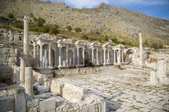 Ruins of ancient city. The ancient city of Sagalassos in Turkey Royalty Free Stock Photo