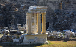 Ruins of the ancient city of Side Royalty Free Stock Photo