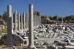Ruins of the ancient city of Side Royalty Free Stock Photography