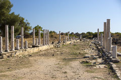 Ruins of the ancient city of Side Royalty Free Stock Image