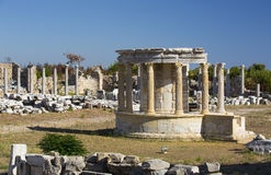 Ruins of the ancient city of Side Stock Photo