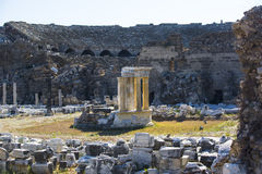 Ruins of the ancient city of Side Royalty Free Stock Photos