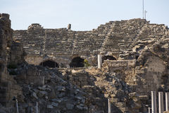 Ruins of the ancient city of Side Stock Images
