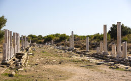 Ruins of the ancient city of Side Stock Photos