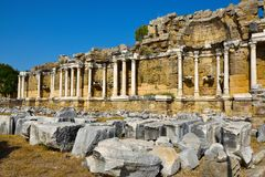 Ruins of the ancient city of Side. royalty free stock images
